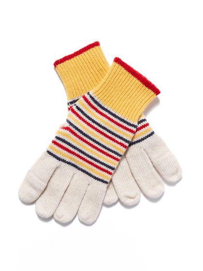 Keller Striped Gloves by Jack Spade at Gilt