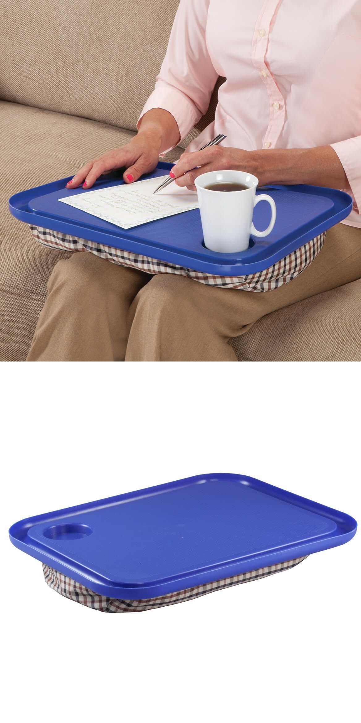 Other Laptop And Desktop Accs 31534 Snack Tray Desk Lap Table W Cup Holder Portable Stable Cushioned Beanbag Support Buy It Now Only Lap Table Lap Bean Bag
