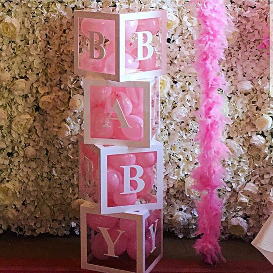 Diy Baby Shower Block Letters With Images Baby Blocks Baby