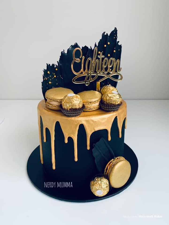 Top Black & Gold Cakes -   12 black cake Birthday ideas