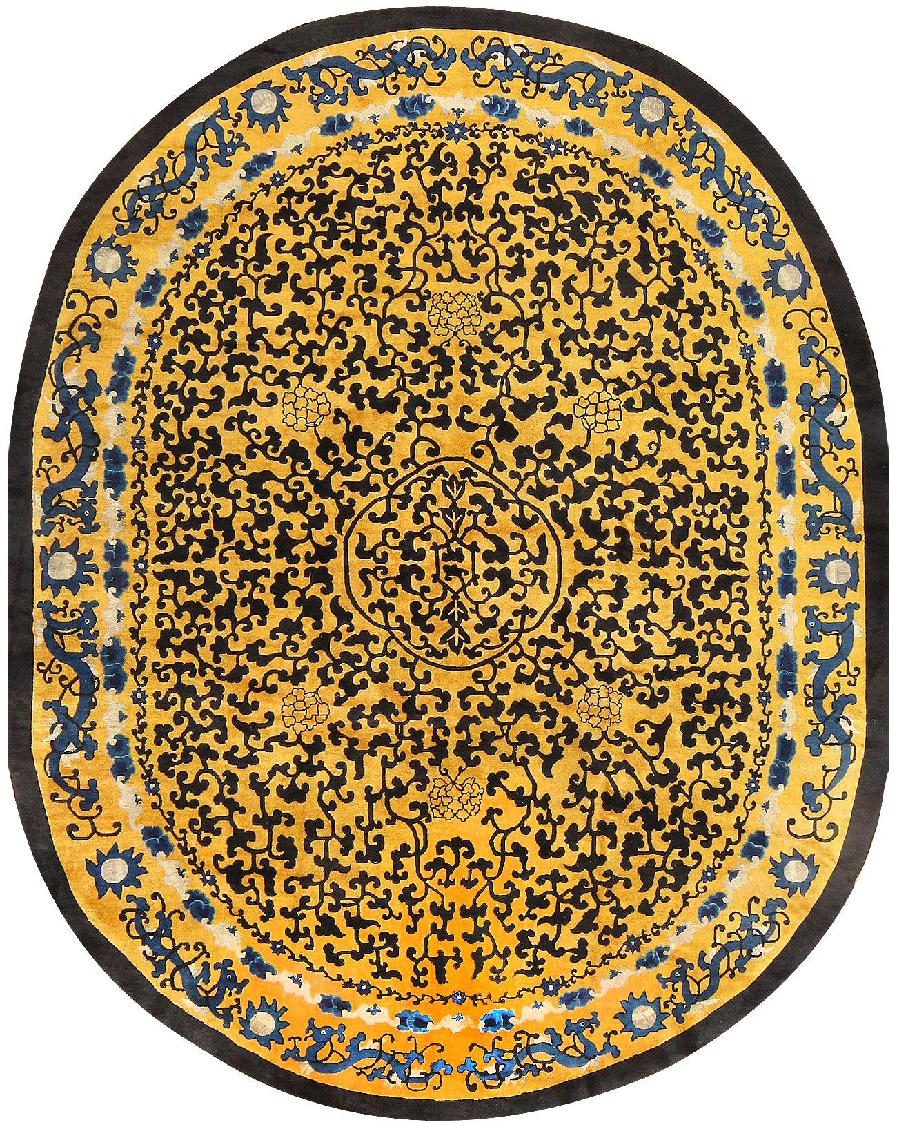 Antique Oval Chinese Rug 48215 Chinese Rug Chinoiserie Furniture Antique Rugs