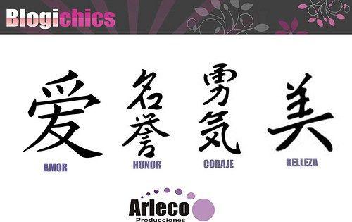 Letras Chinas Para Tatuajes Diseños De Sabiduria Varios