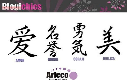 Letras Chinas Para Tatuajes Disenos De Sabiduria Varios