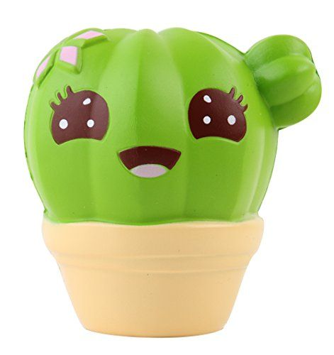 Anboor 41 Squishies Cactus Scented Jumbo Slow Rising Kawaii Squishies Stress Relief Toy For Collection Gift Random Deliv Stress Relief Toys Squishies Cool Toys