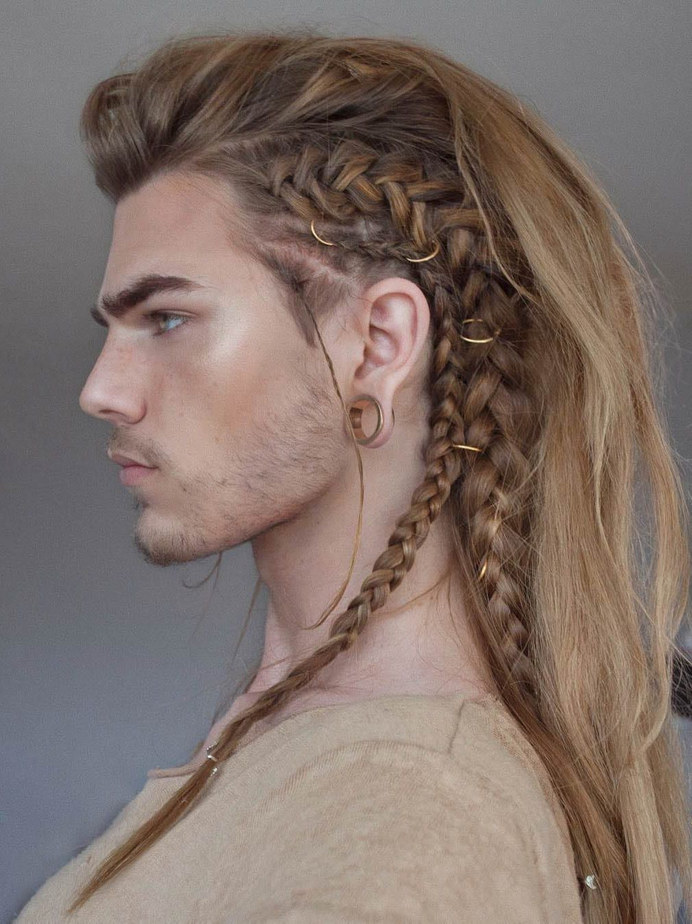 hair style for man with long hair