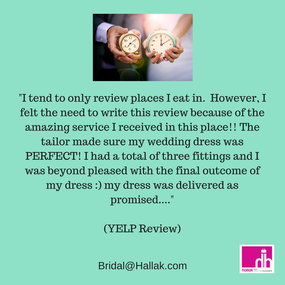 Wedding dress restoration  Hear what real brides are saying about our wedding services Pre and