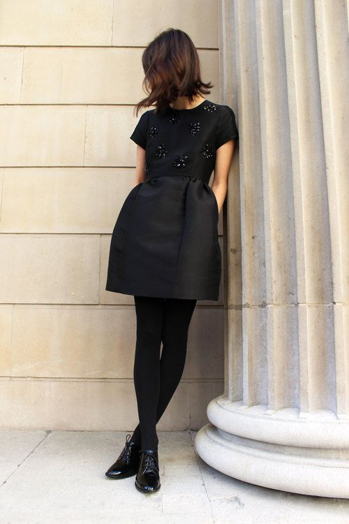 Bank On A Little Black Dress Opaque Tights Black And Lbd
