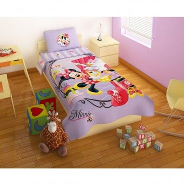 Smurfs Bed Sets For Todlers Minnie Mouse 100 Cotton Purple Bed