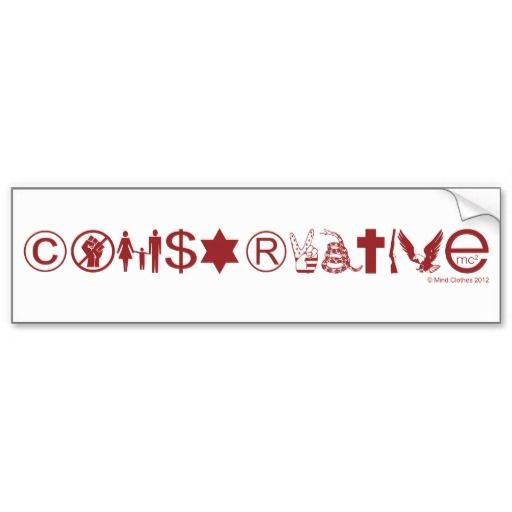 Conservative symbol bumper sticker