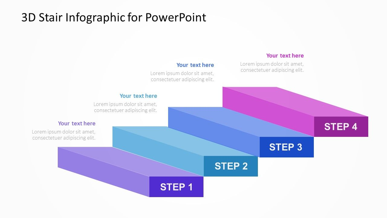3D Stair Infographic for PowerPoint... Fully editable PowerPoint ...