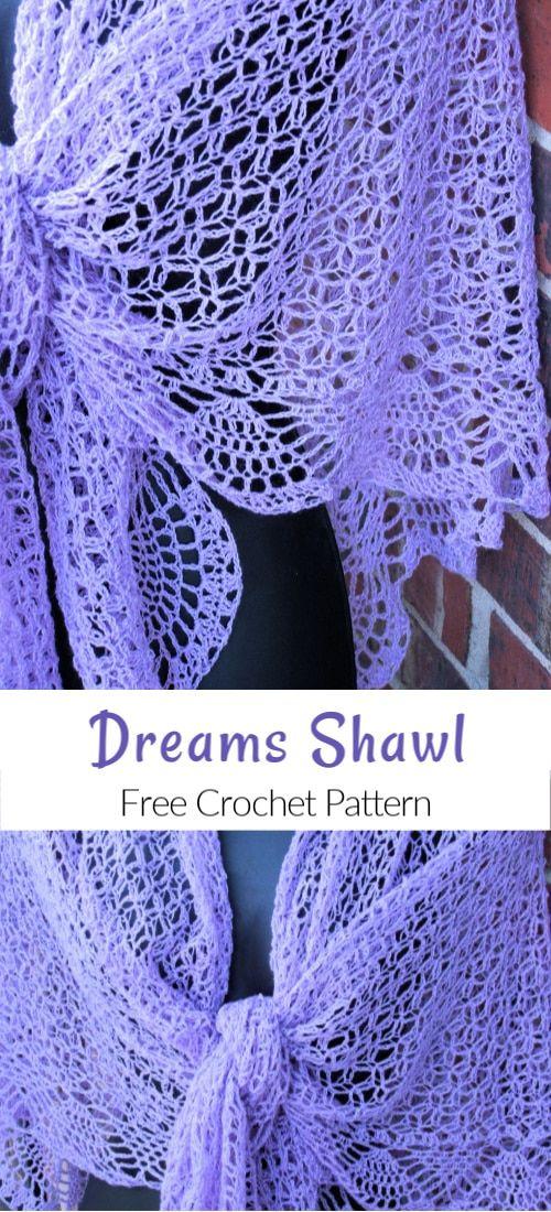 Dreams Shawl Free Crochet Pattern