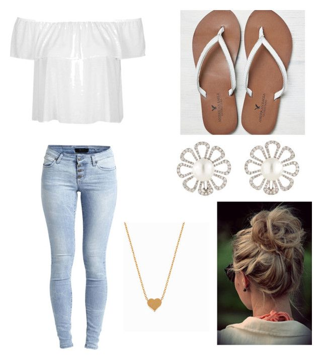 """""""Untitled #3"""" by heixu ❤ liked on Polyvore featuring Topshop, Object Collectors Item, American Eagle Outfitters, Paul Morelli and Minnie Grace"""