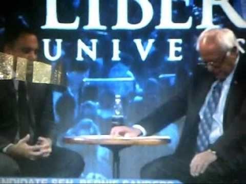 Bernie Sanders prays at Liberty University