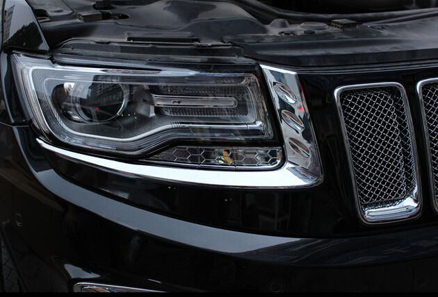 Front Headlight Eyelid Cover Trims 8pcs For Grand Cherokee 2014 2015 Grand Cherokee 2014 Jeep Grand Cherokee Jeep