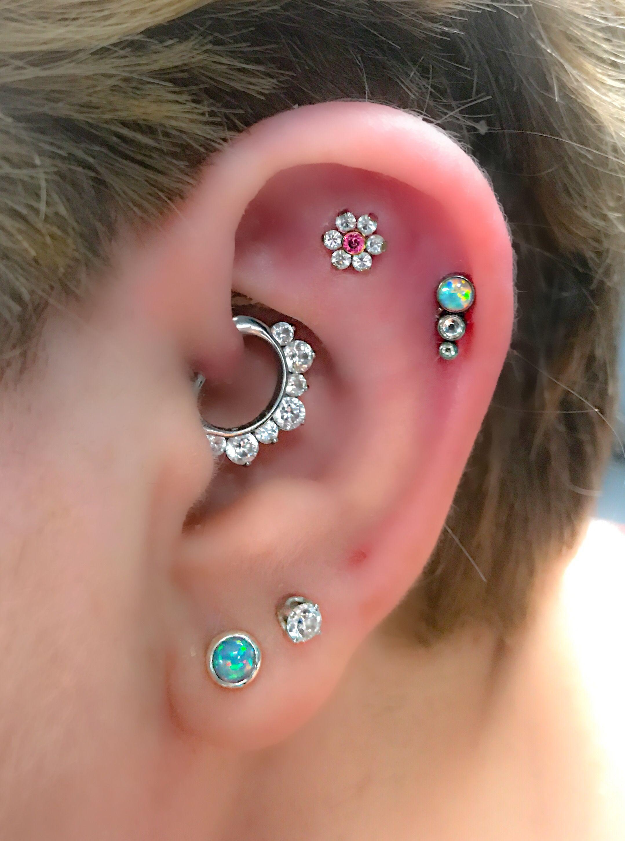 Image result for ear piercing art   Ear earrings Types of ...