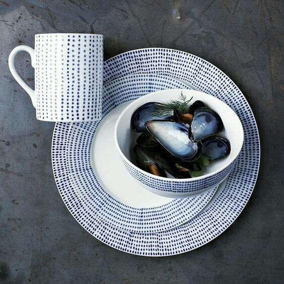 Inspiration West Elm\u0027s Hand-Painted Dotted Dinnerware West Elm\u0027s Chevron Sketch Dinnerware Materials Various w. & blue and white morden design | ceramic and life | Pinterest | Porcelain