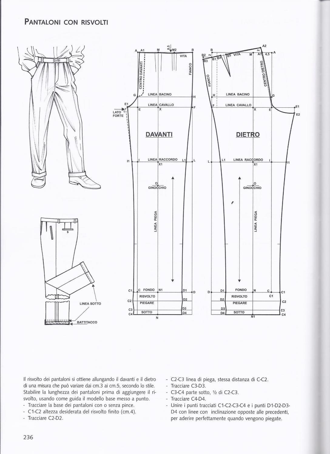 La tecnica dei modelli uomo donna 1 | Patronaje | Pinterest ...