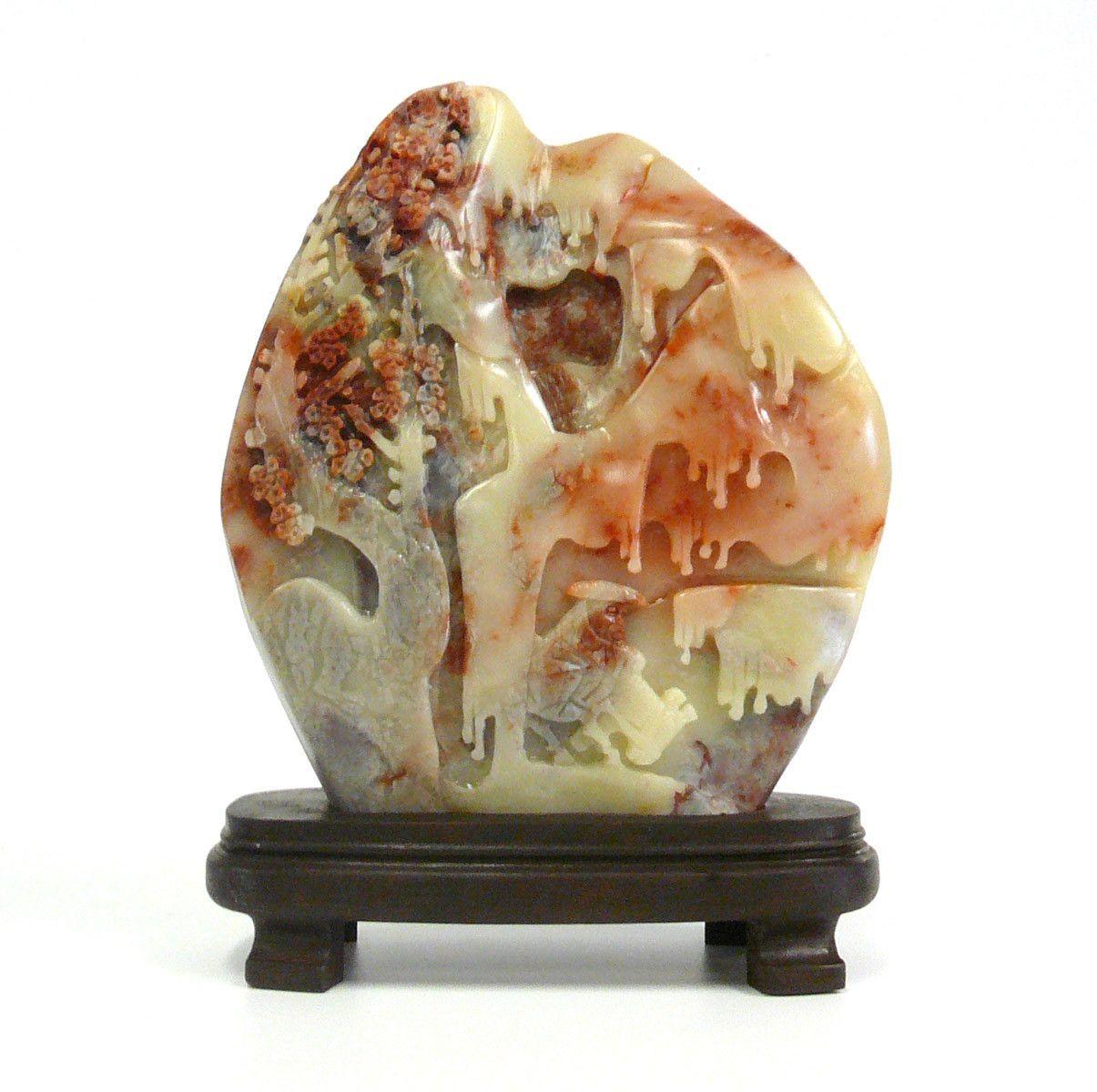 Chinese ShouShan Stone Tree Scenery Display Figure cs950-12S