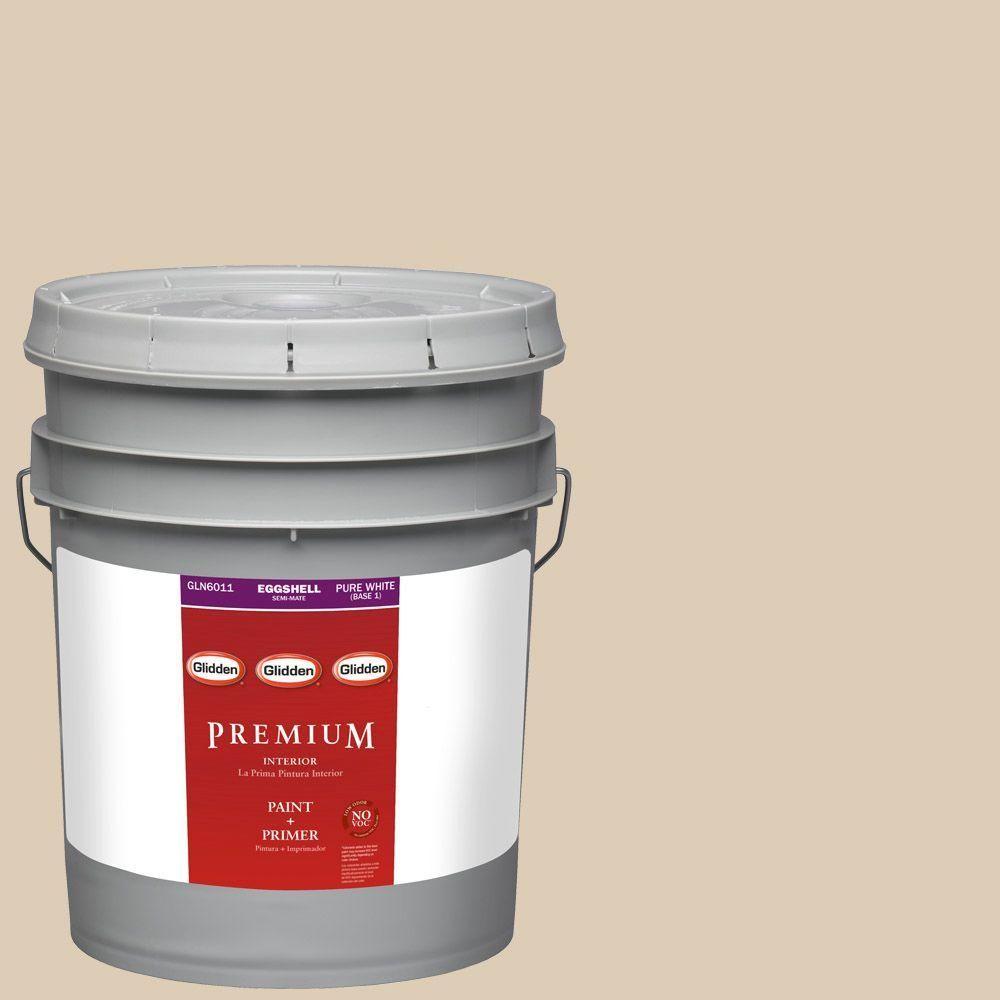 Glidden Premium 5-gal. #HDGWN32 Water Chestnut Eggshell Latex Interior Paint with Primer