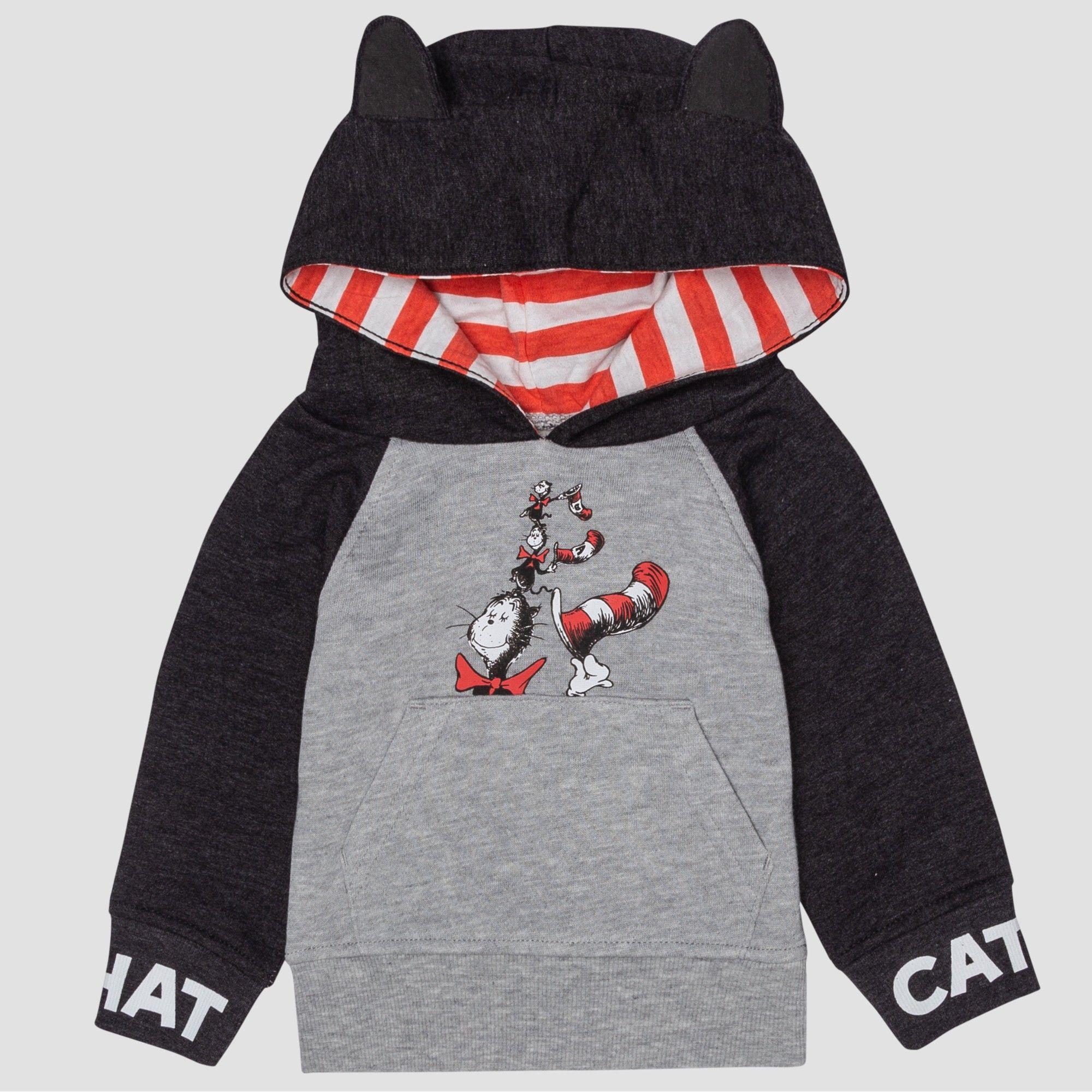 Baby S Dr Seuss Cat In The Hat Hooded Sweatshirt Gray 6 9m Infant Unisex Hooded Sweatshirts Grey Sweatshirt Sweatshirts [ 2000 x 2000 Pixel ]
