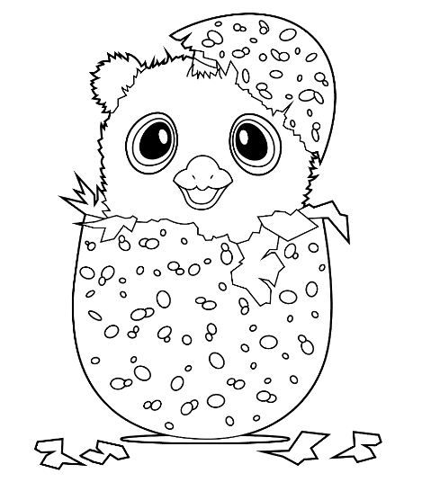 Hatchimals Coloring Page Free Coloring Board Pinterest