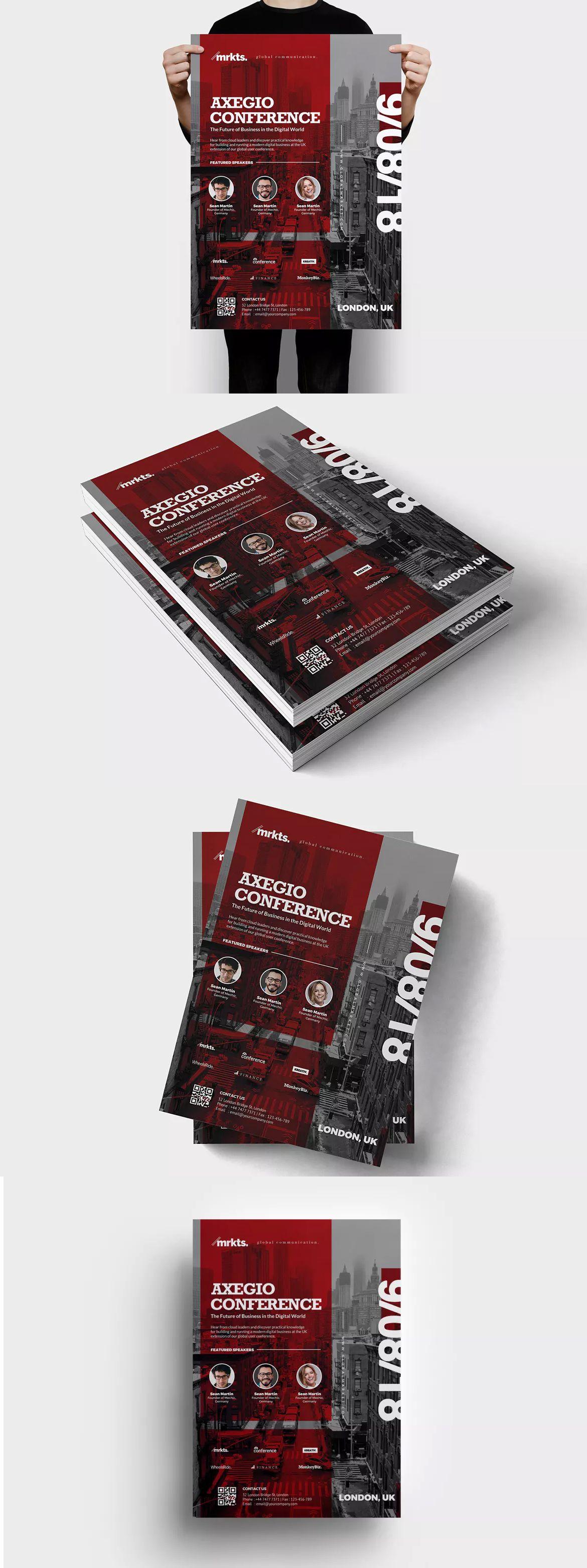 Axegio Conference Flyer Template Psd  A  Flyer Design Templates