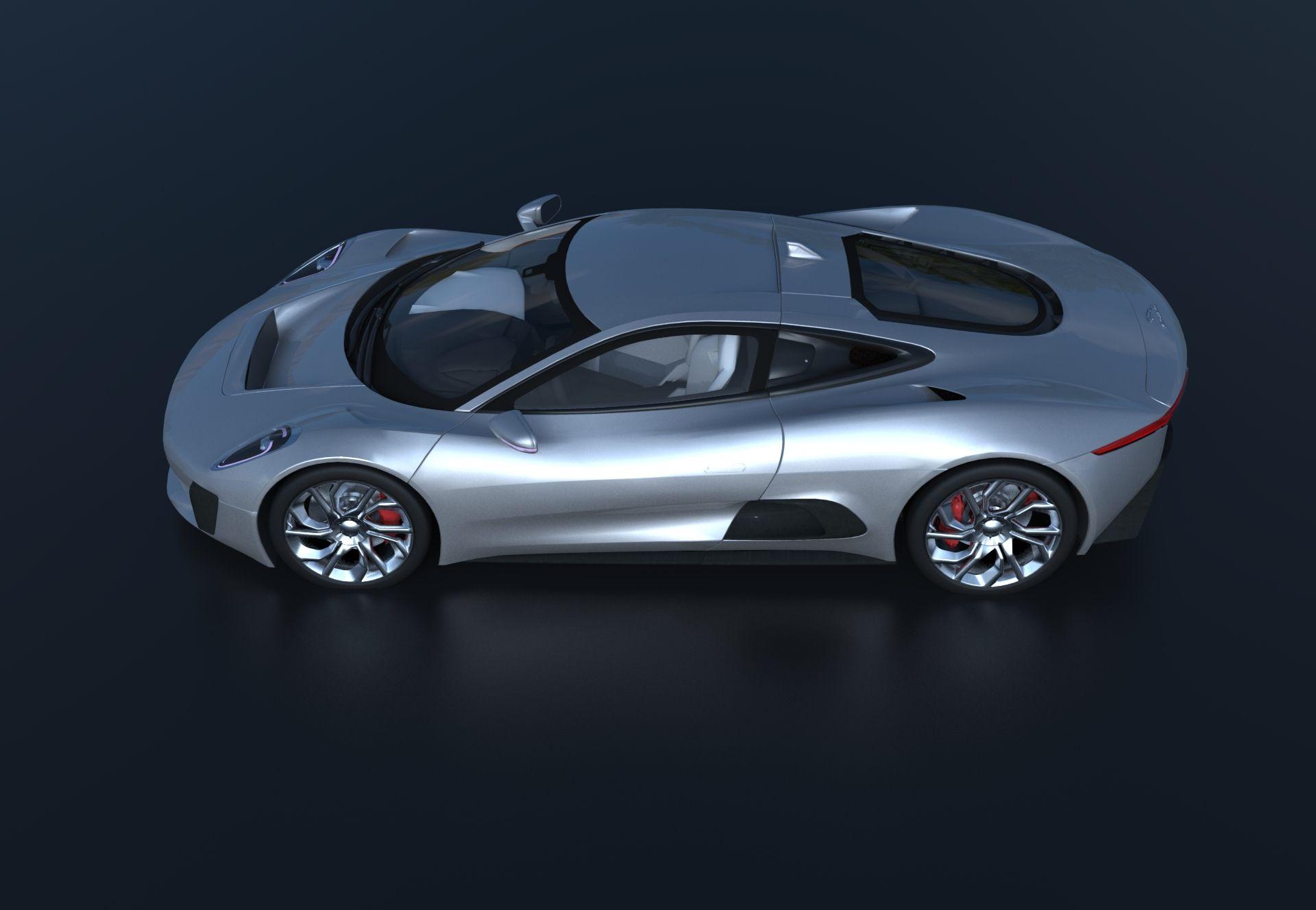 Beau Jaguar CX 75 Renderizado En #Keyshot #3d #render