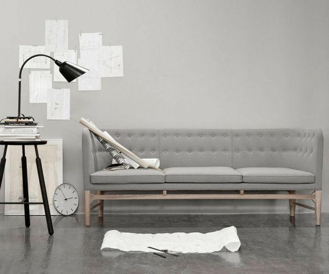Einrichten Wohnen Idee Komplett Grau Wohnzimmer   Q   Pinterest Danish Design Wohnzimmer