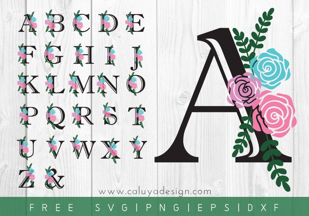 FREE Floral Letters SVG, PNG, EPS & DXF File Download