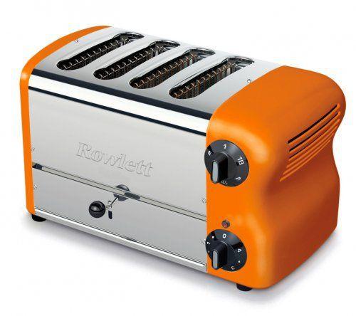 Rowlett Rutland Esprit 4 Slice Orange Toaster