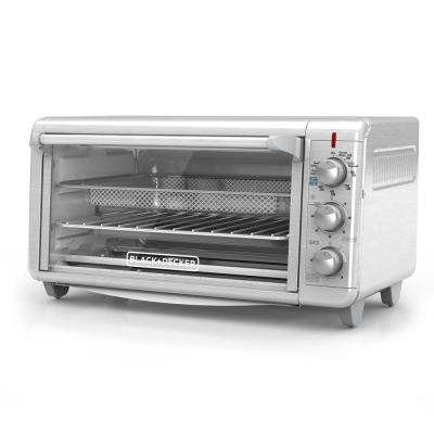 Black Decker 1500 W 9 Slice Silver Toaster Oven With Temperature Control And Built In Timer To4314ssd Toaster Oven Countertop Oven Convection Toaster Oven