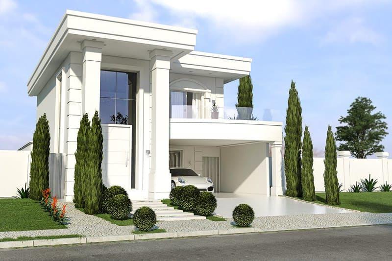 Planta de casa neoclassica casa ideia pinterest for Casa moderna 7x20