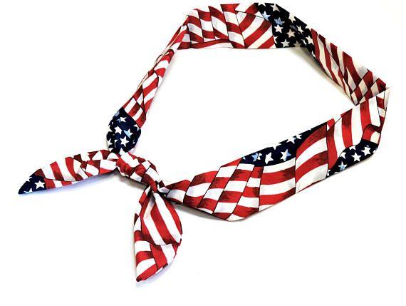 Patriotic Neck Cooler American Flag Cool Tie Neck Wrap Keep Cool