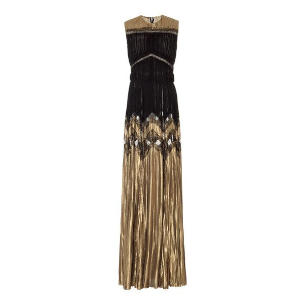 J. Mendel Metallic Georgette Gown ($8,490) ❤ liked on Polyvore ...