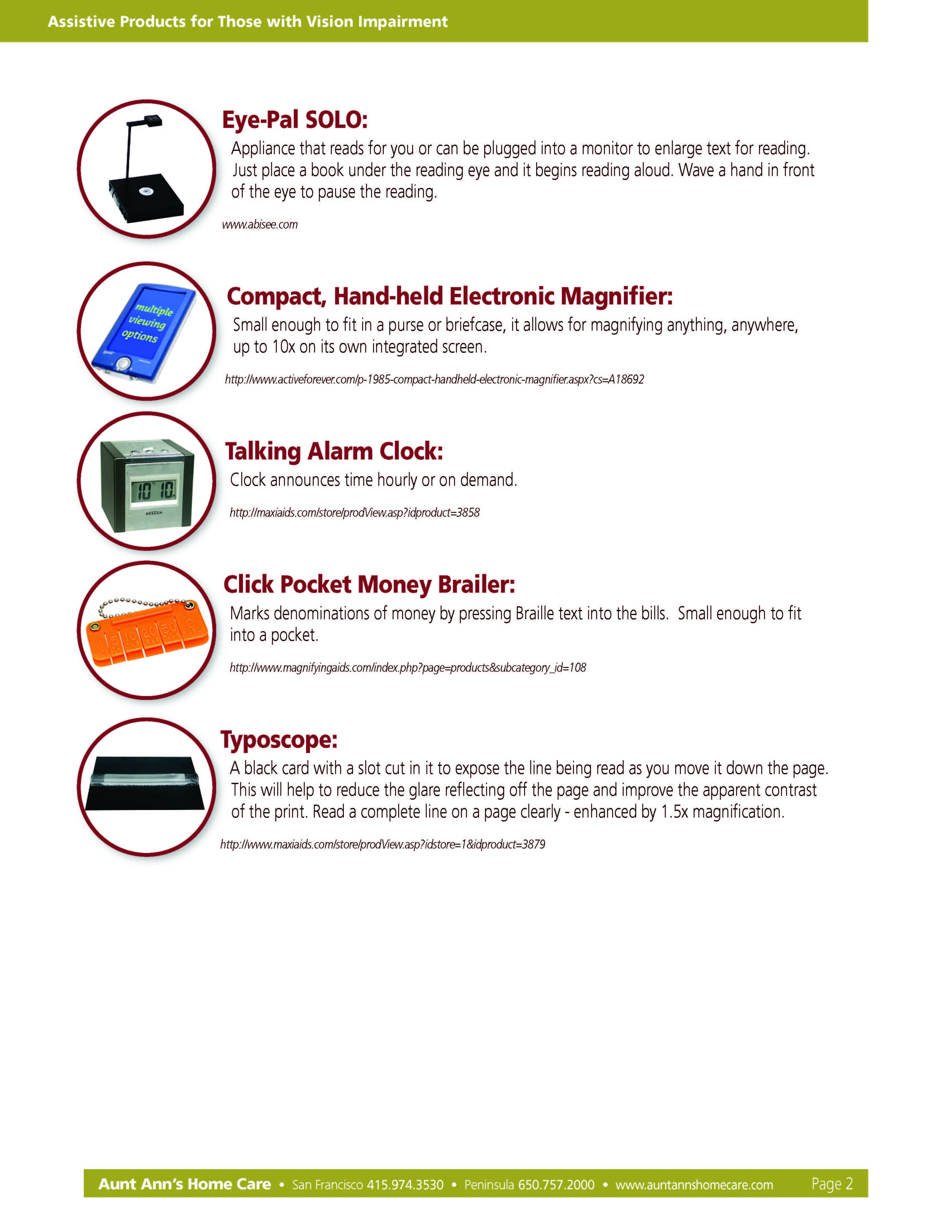 Senior Home Safety Worksheet