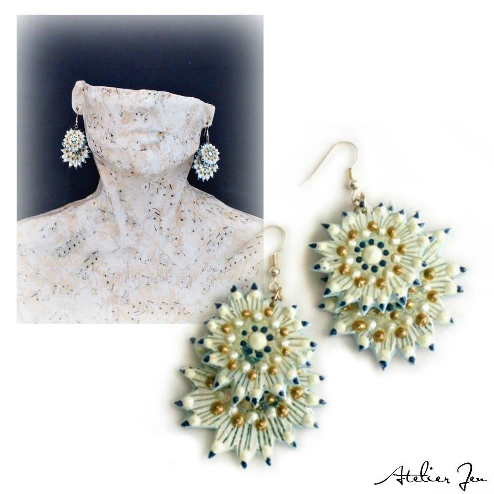 """""""Gauri"""" earrings by Atelier Jen follow on instagram @atelierjen"""