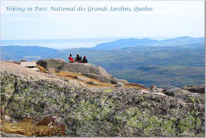Hiking in Parc National des Grands Jardins, Quebec ...