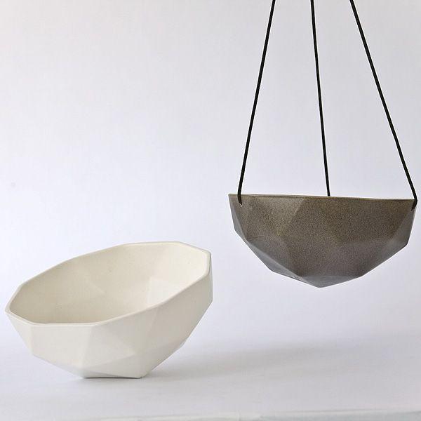 Geodesic Concrete Planter: Kelly Lamb Planters Geodesic Porcelain Planters Designed