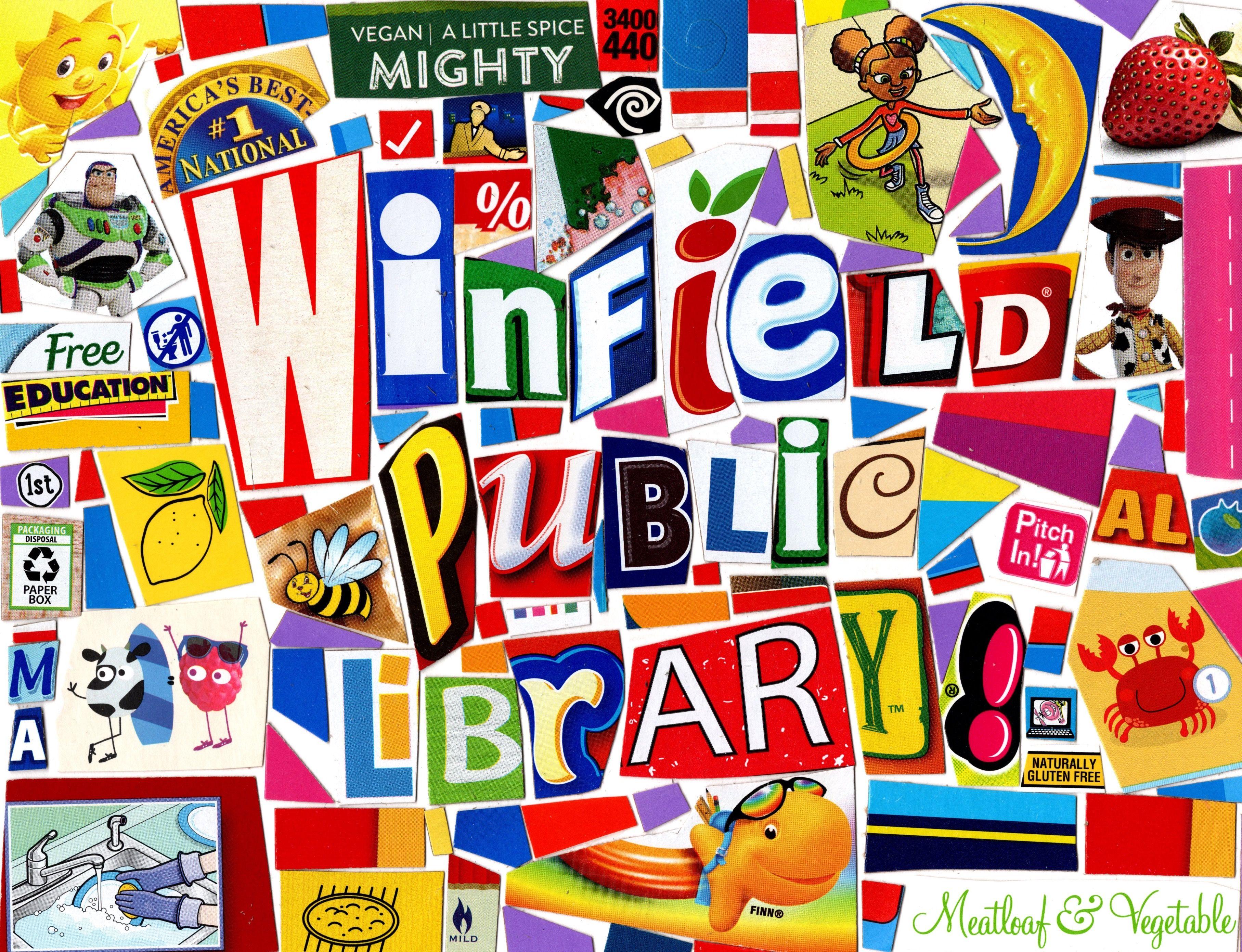 Winfield Public Library, Alabama 2019 Modern pop art
