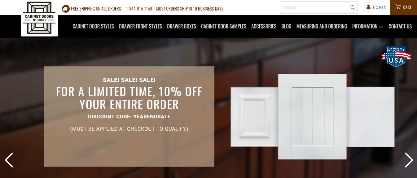 For a limited time, Cabinet Doors \'N\' More is offering 10 ...