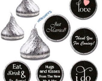 Wedding Candy Sticker Labels Printable Hershey By Jusprintables