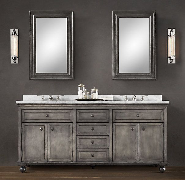 Annecy Metal Wrapped Double Vanity Restoration Hardware Bathroom
