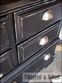 Black White Distressed Dresser