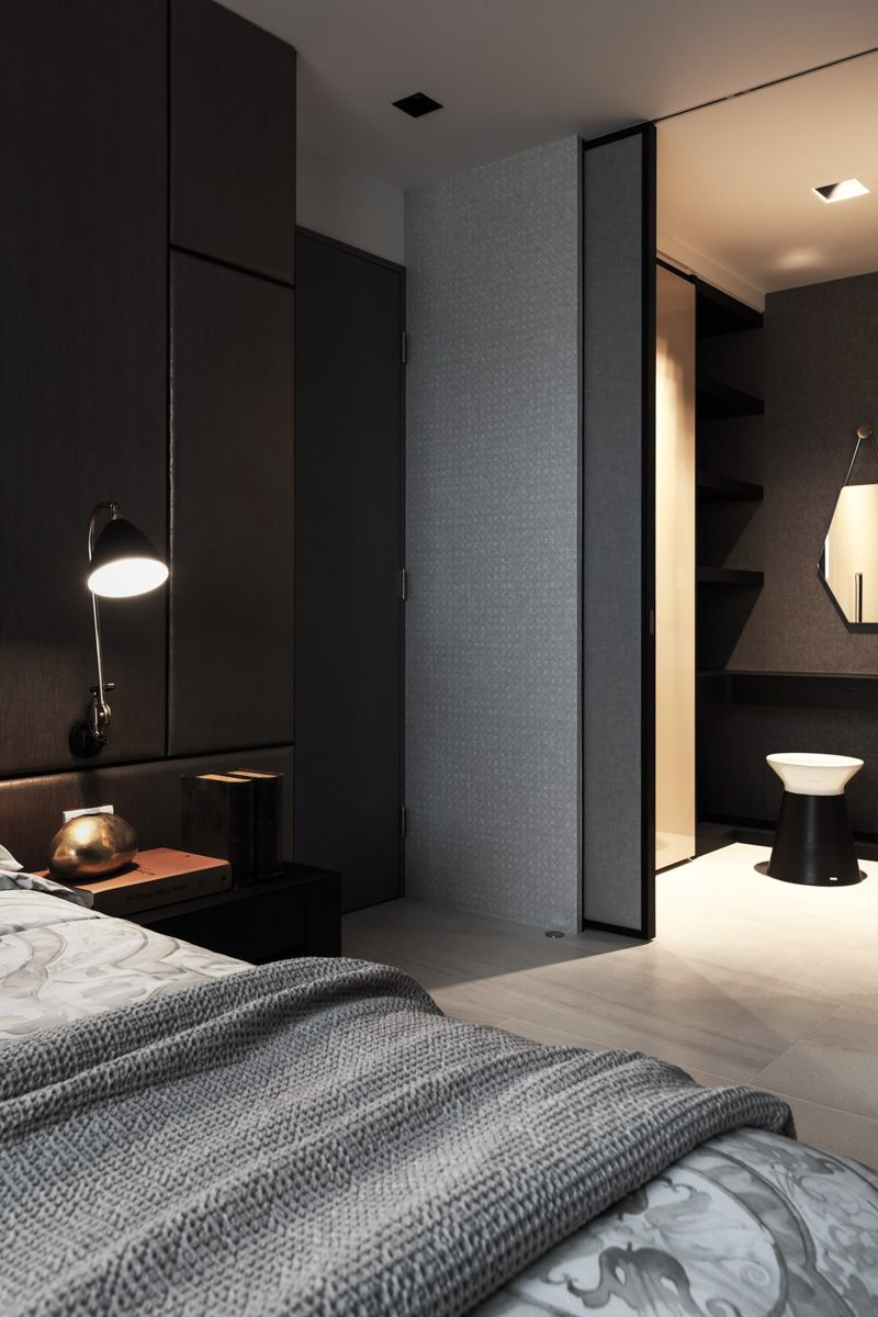 Dark  Interiors  DESIGN  THE GREY  luxury home lifestyle  Pinterest  침실 ...