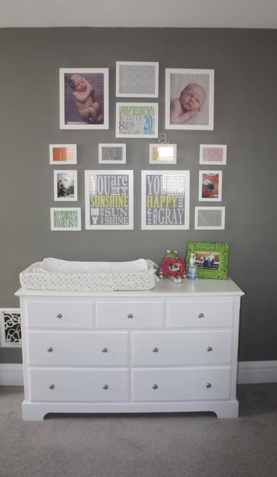 Ave S Nursery Wall Collage With Framed Sbook Paper
