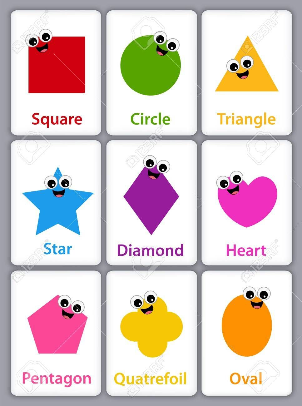 Image result for BASIC SHAPES WITH NAME clipart | School | Basic