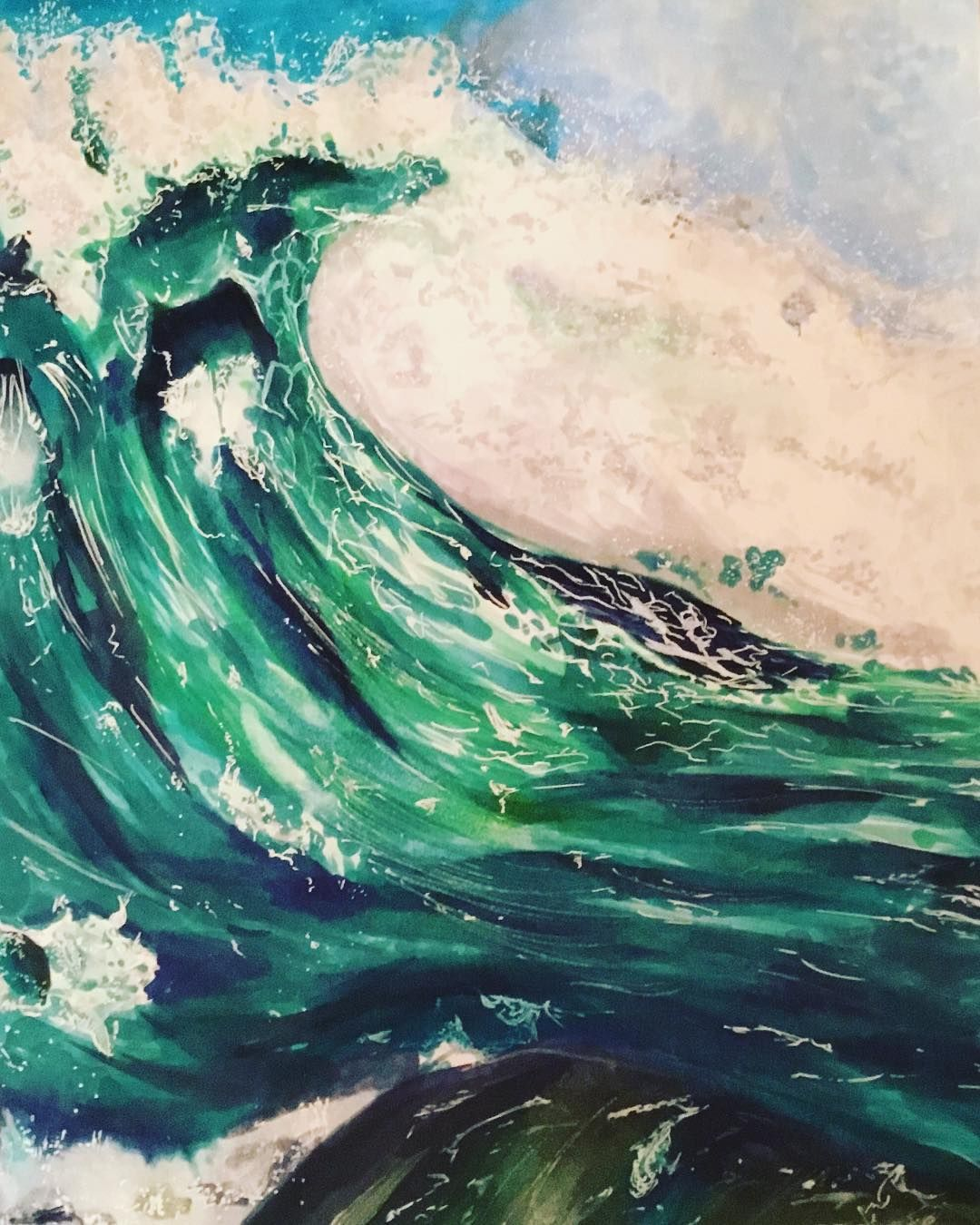 Art By Fancyfoxu Bro Ka Li Mk Sea Waves Watercolor Art Art