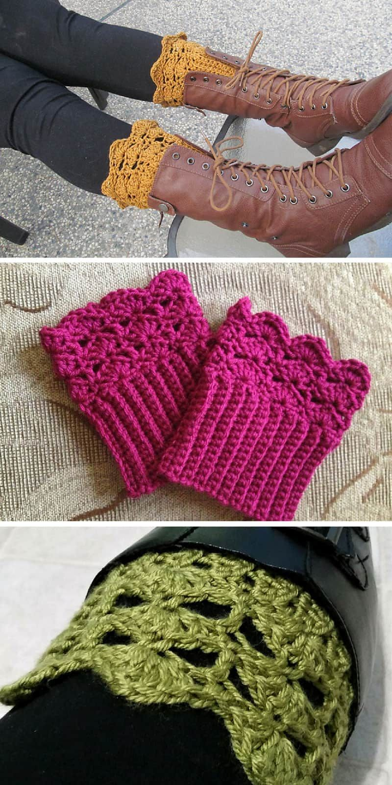 11 Stylish Boot Cuff Crochet Patterns to Add Some Feminine Flair to Your Winter Wardrobe! #bootcuffs
