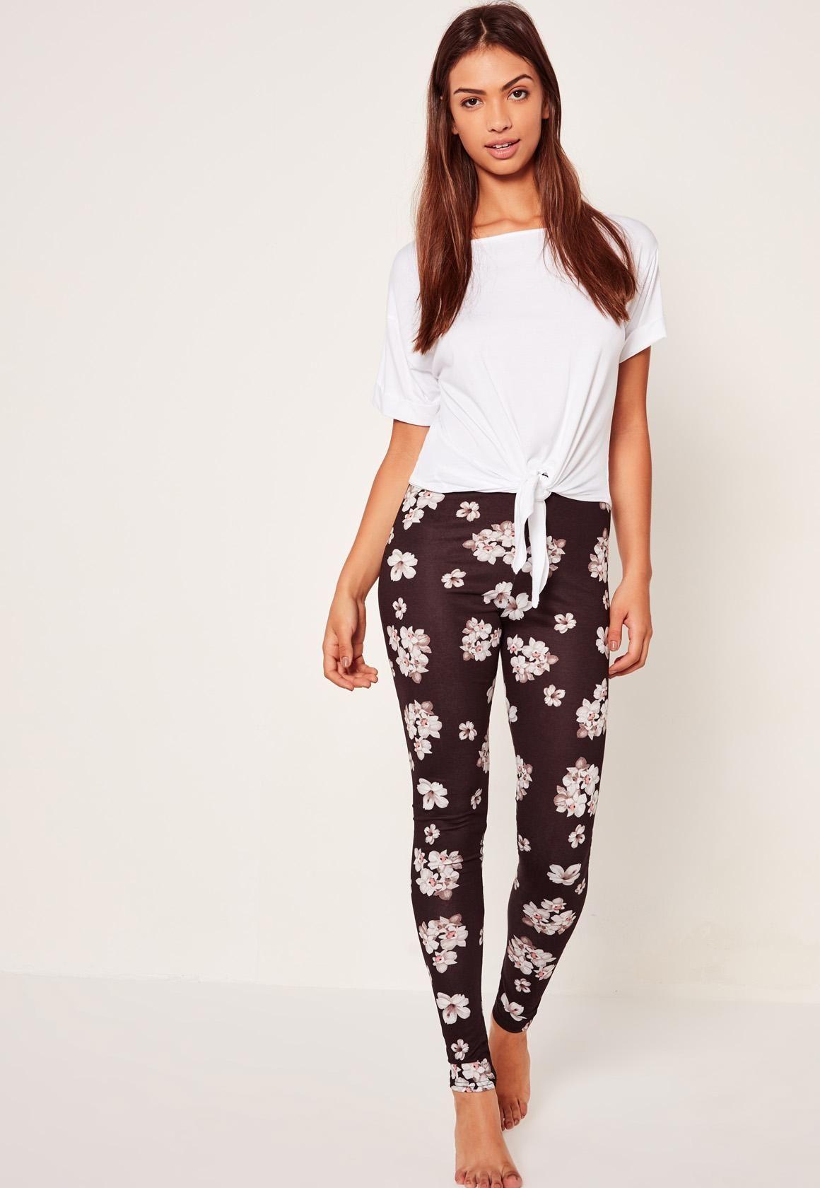 Missguided - Floral Print Legging Pj Set