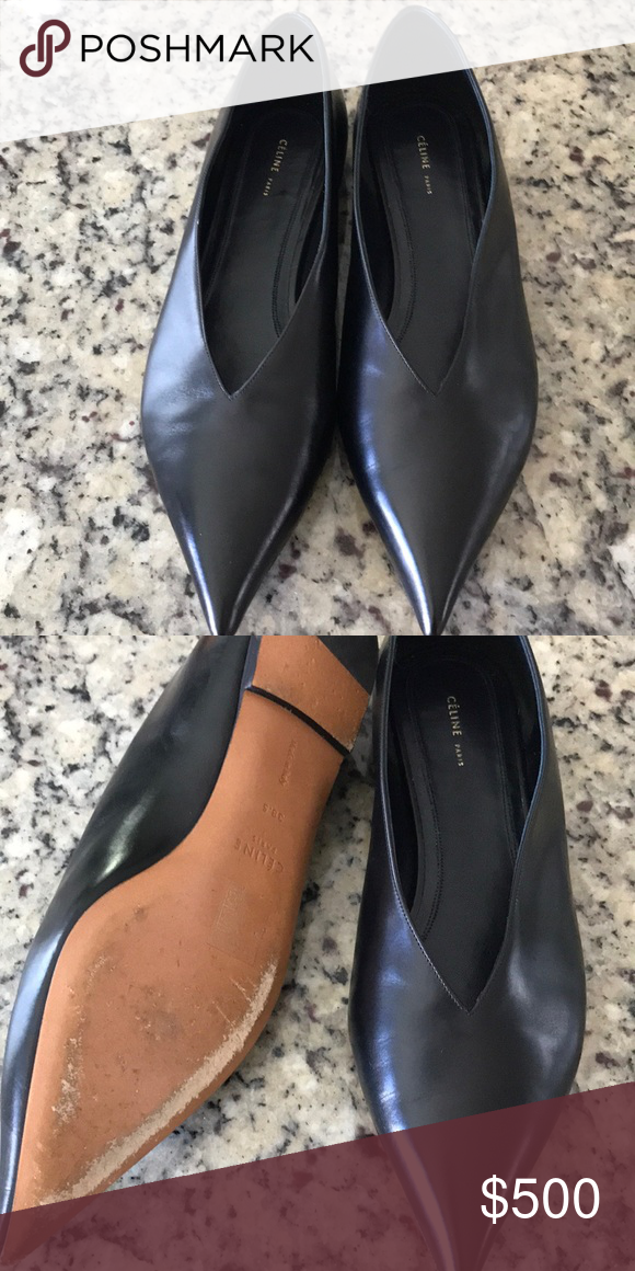 d57b71a53 Authentic | Cèline Leather Pointed Flats Worn 3 times, looks brand new,  good condition Celine Shoes Flats & Loafers